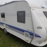 60 Hobby 560 KMFE med køjer Fra kr. 3500,- pr. uge / FærdigPakke (Gammelbro Camping Haderslev)
